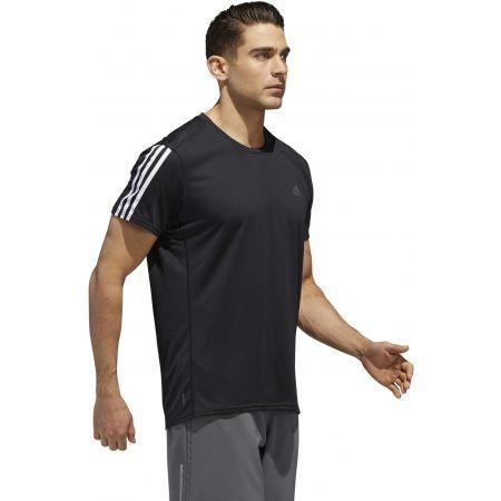 Мъжка тениска - adidas RUN 3STRIPES TEE MEN - 5