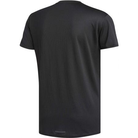 Мъжка тениска - adidas RUN 3STRIPES TEE MEN - 2