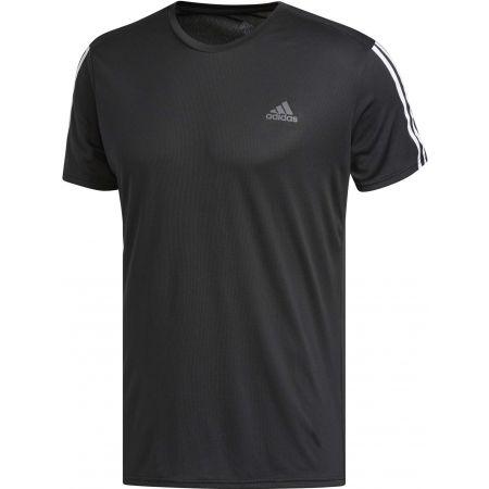 Мъжка тениска - adidas RUN 3STRIPES TEE MEN - 1
