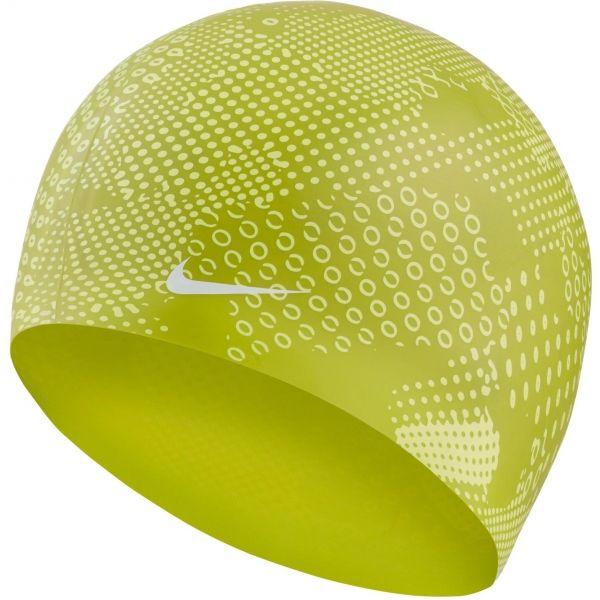 Nike OPTIC CAMO SILICONE CAP zielony NS - Czepek pływacki