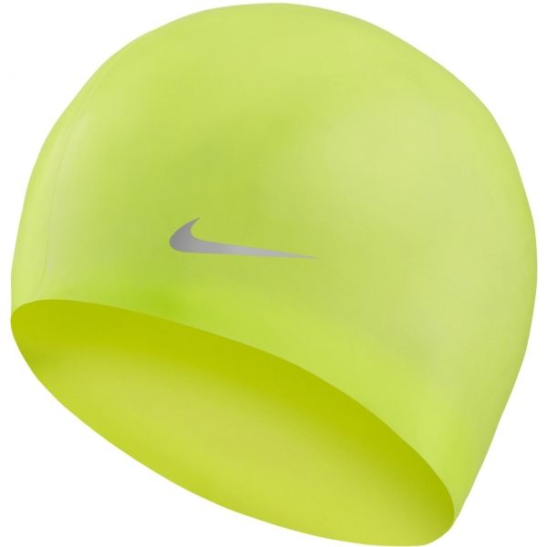 Nike SOLID SILICONE YOUTH żółty NS - Czepek pływacki dziecięcy