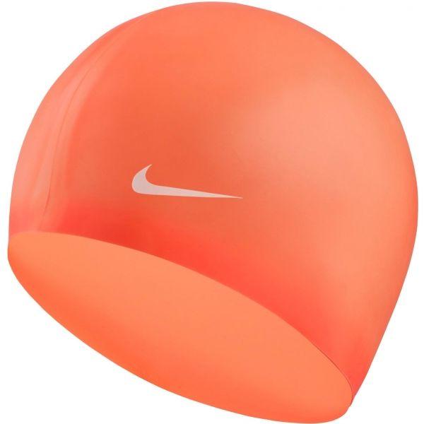 Nike SOLID SILICONE YOUTH červená NS - Detská plavecká čiapka