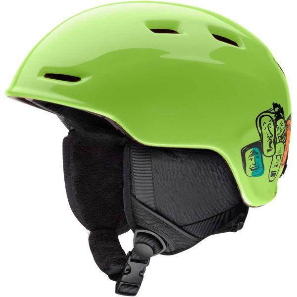 Smith ZOOM JUN zielony (48 - 53) - Kask narciarski dziecięcy