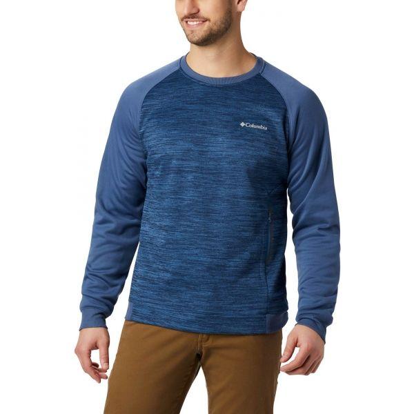 Columbia TECH TRAIL MIDLAYER CREW tmavě modrá L - Pánský outdoorový svetr