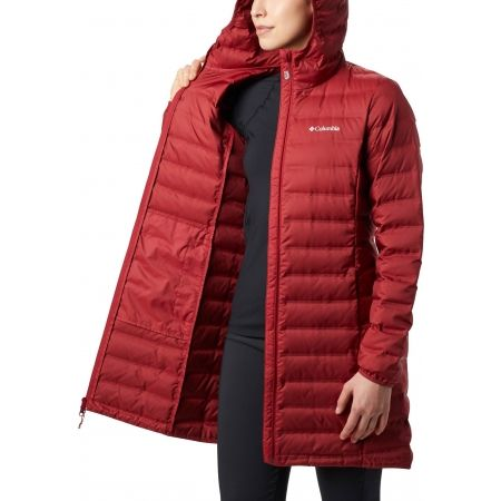 Dámská péřová bunda - Columbia LAKE 22 DOWN LONG HOODED JACKET - 4