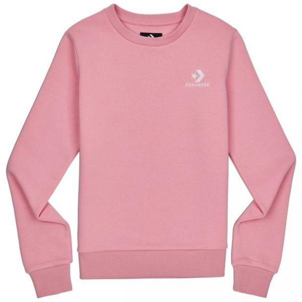 Converse STAR CHEVRON EMB CREW világos rózsaszín XS - Női pulóver