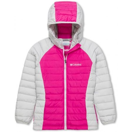 Columbia POWDER LITE GIRLS HOODED JACKET - Dievčenská  bunda