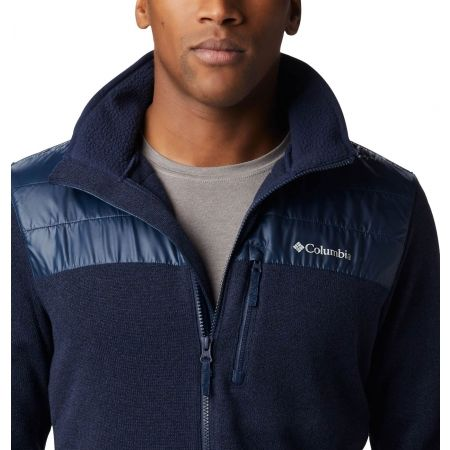 Men's fleece sweater - Columbia CANYON POINT SWEATER FLEECE FULL ZIP - 4