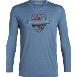 Icebreaker SPECTOR LS CREWE ALPINE CREST - Men's daily T-shirt