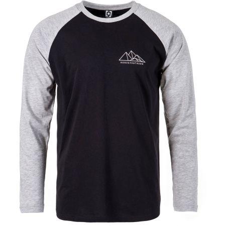 Pánské tričko s dlouhým rukávem - Horsefeathers PEAKS LS T-SHIRT - 1