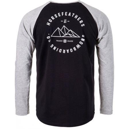Pánské tričko s dlouhým rukávem - Horsefeathers PEAKS LS T-SHIRT - 2
