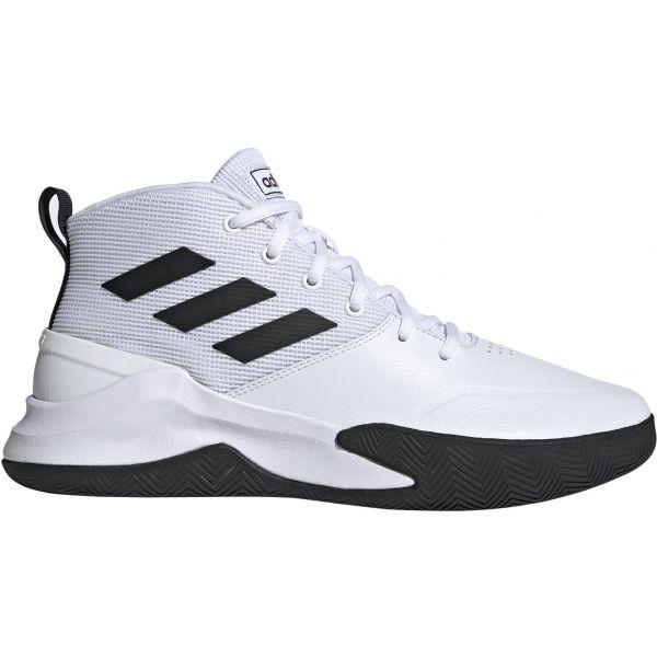 adidas OWNTHEGAME biela 10.5 - Pánska basketbalová obuv
