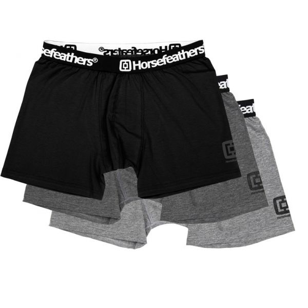 Horsefeathers DYNASTY 3PACK BOXER SHORTS fekete M - Férfi boxeralsó
