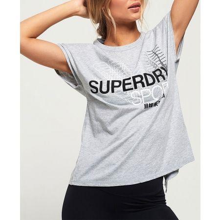 Дамска тениска - Superdry CORE SPLIT BACK TEE - 2