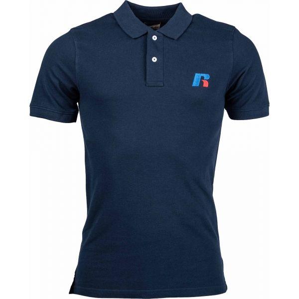 Russell Athletic CLASSIC POLO tmavě modrá XL - Pánské triko