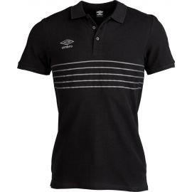 Umbro 5 STRIPE COTTON PIQUE POLO