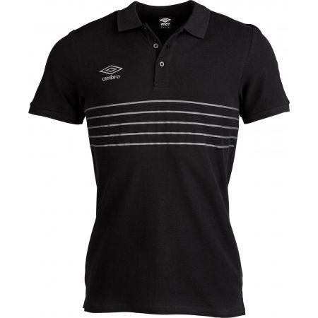 Umbro 5 STRIPE COTTON PIQUE POLO - Pánské polo tričko