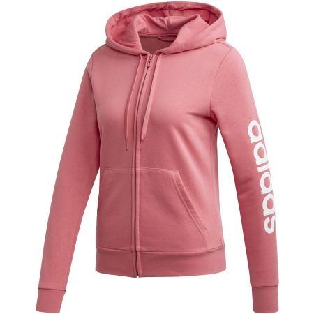 adidas ESSENTIALS LINEAR FULL ZIP HOODIE - Women's sweatshirt