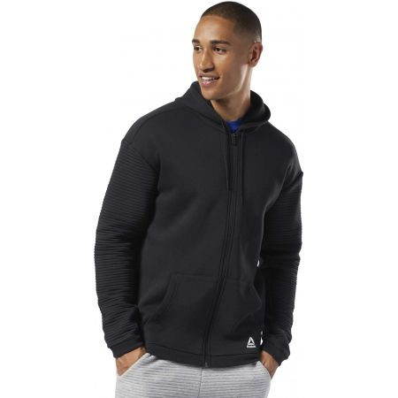 Pánska mikina - Reebok WORKOUT READY FLEECE FULL ZIP HOODIE - 3