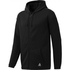 Reebok WORKOUT READY FLEECE FULL ZIP HOODIE - Pánska mikina