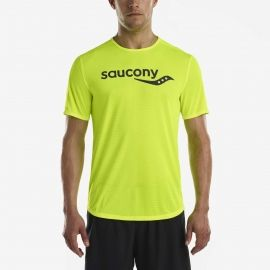 Saucony SHORT SLEEVE VIZIPRO CI - Pánske bežecké tričko