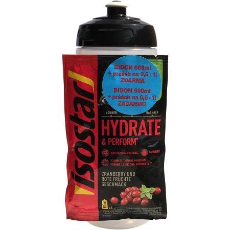 Športová fľaša a izotonický nápoj zadarmo - Isostar BIDON TRANSPARENT 600ML + PRÁŠEK 40G ZDARMA - 1