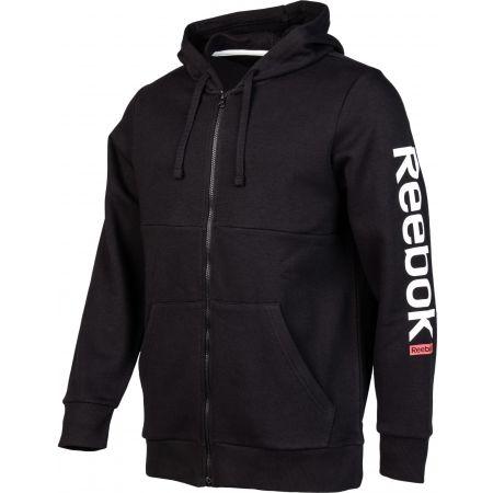 Men's sweatshirt - Reebok TE BL FZ HOODIE - 2