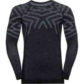 Odlo SUW MEN'S TOP L/S CREW NECK NATURAL+ KINSHIP WARM - Pánske tričko