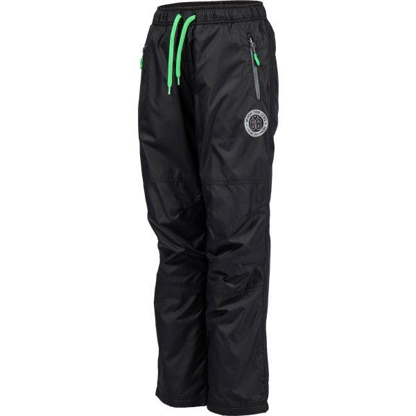 Lewro MILAN czarny 116-122 - Spodnie ocieplane dziecięce