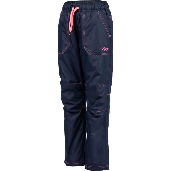 Lewro ZOWIE różowy 140-146 - Spodnie ocieplane dziecięce