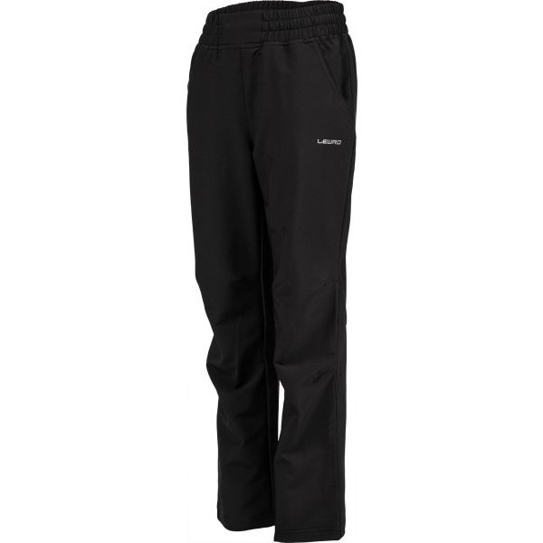 Lewro PERSIS černá 116-122 - Dětské softshellové kalhoty