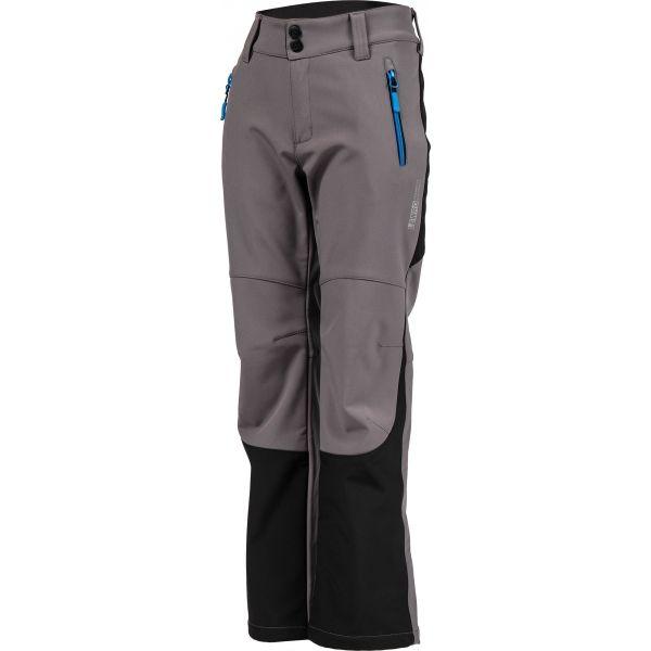 Lewro DAYK šedá 128-134 - Dětské softshellové kalhoty