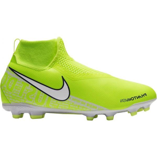 Nike JR PHNTOM VISION ACADEMY DF FG/MG světle zelená 2.5Y - Dětské kopačky