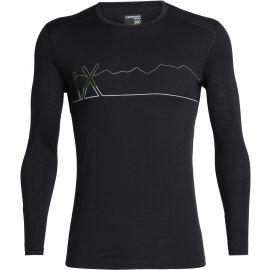 Icebreaker OASIS LS CREWE SINGLE LINE SKI - Koszulka techniczna z wełny merynosów