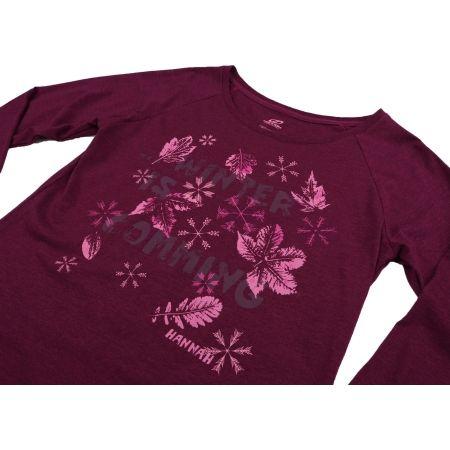 Dámské tričko - Hannah AMARANTH - 3