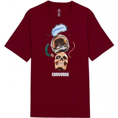 Converse SKULL HELMET TEE - Pánske tričko
