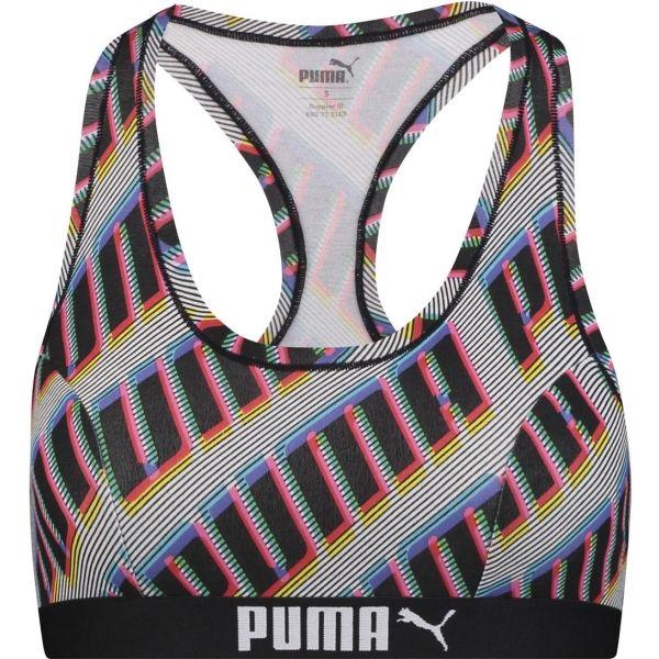 Puma TOP RACEBRACK 1P fekete XS - Női sportmelltartó