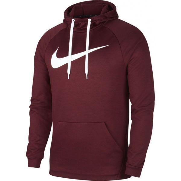 Nike DRY HOODIE PO SWOOSH M vínová XL - Pánská mikina