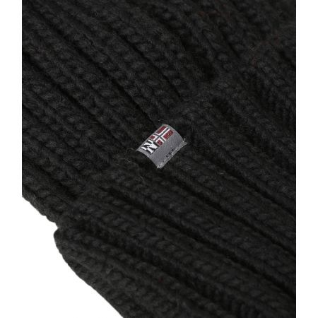 Pánska čiapka - Napapijri SEMIURY 2  BLACK - 4