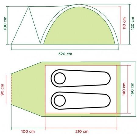 DARWIN 2 - Camping tent - Coleman DARWIN 2 - 8