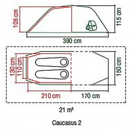 Outdoorový stan - Coleman CAUCASUS 2 - 4