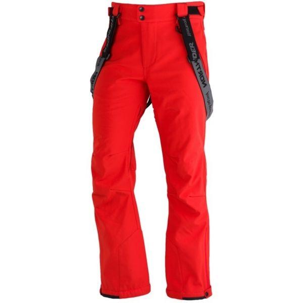 Northfinder LUX červená L - Pánské softshelllové kalhoty na lyže