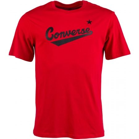 Мъжка тениска - Converse CENTER FRONT LOGO TEE - 1