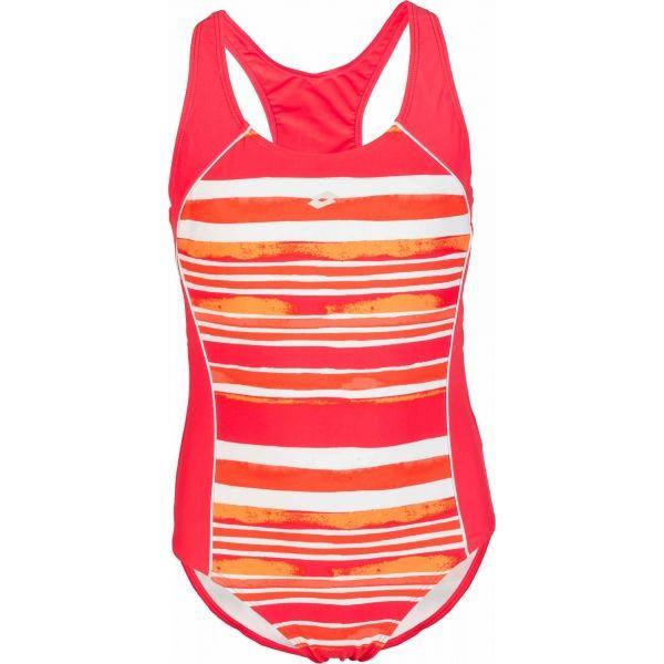 Lotto LANIE červená Dievčenské jednodielne plavky 140-146 Lotto
