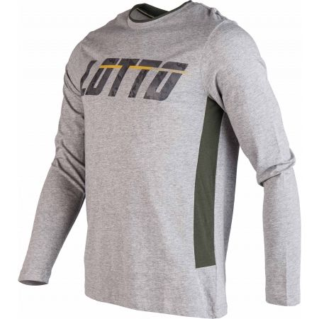 Pánské tričko s dlouhým rukávem - Lotto LOGO II TEE LS MEL JS - 2