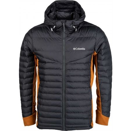 Columbia POWDER PILLOW HYBRID HOODED JACKET - Pánska bunda