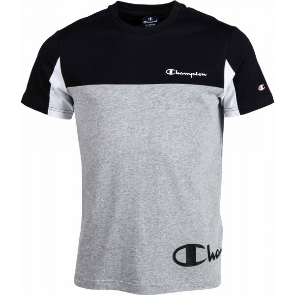 Champion CREWNECK T-SHIRT šedá S - Pánské tričko