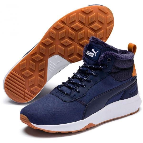 Puma ST ACTIVATE MID WTR tmavě modrá 9.5 - Pánská zimní obuv
