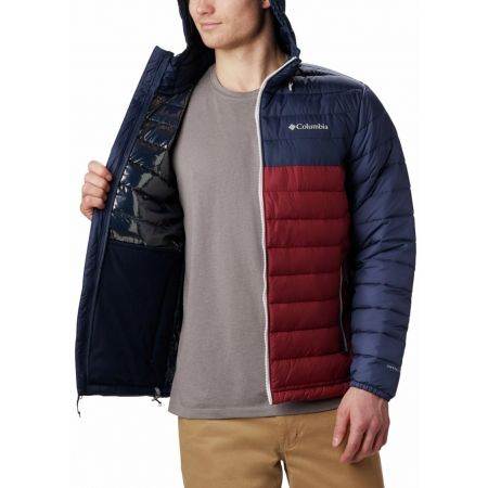 Pánska bunda - Columbia POWDER LITE HOODED JACKET - 6