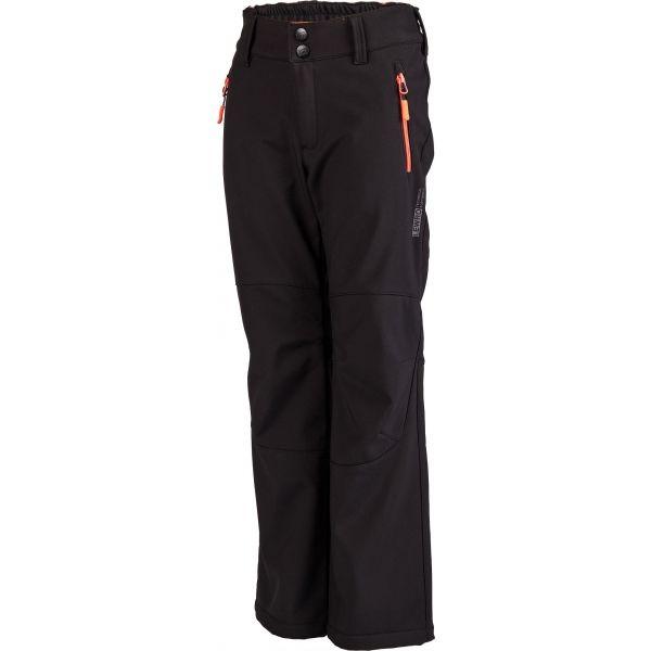 Lewro DAYK černá 128-134 - Dětské softshellové kalhoty